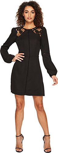 Adelyn Rae Women's Lena Fit & Flare Dress Black Small by Adelyn Rae