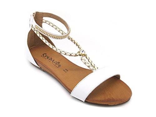 Creative Women's Fashion Sandals White