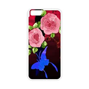 [Funny Series] IPhone 6 Plus Case Flower 261, Iphone 6 Plus Case for Women Okaycosama - White