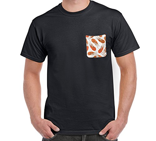 Gear New No Pocket T-Shirt, With The Prepared Shrimps GN3921756, Black ()