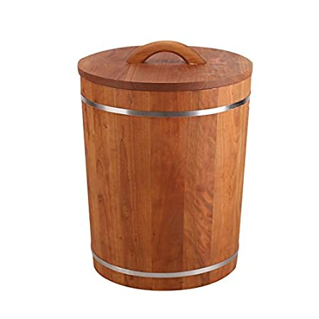 ZWL Grain Storage Barrel Solid Wood Rice Barrel Cereals Storage