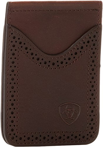 Ariat Ariat Shield Perforated Edge Money Clip Money Clip Dark Copper One (Copper Metallic Leather Handbags)