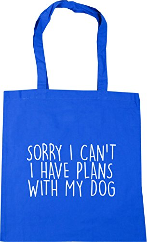 I Dog Plans With x38cm Gym litres Cornflower My Bag Blue Shopping HippoWarehouse 42cm Have Sorry Beach Can't Tote I 10 5w4wS8Xq