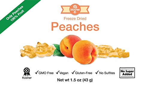 Delicious Peaches - All Natural Freeze Dried Peaches Snack: 100% Peaches No Added Sugar No Preservatives, Paleo, Gluten-Free. Healthy Snack for Children & Adults, Add to Smoothies or Cereal (1.8 oz)