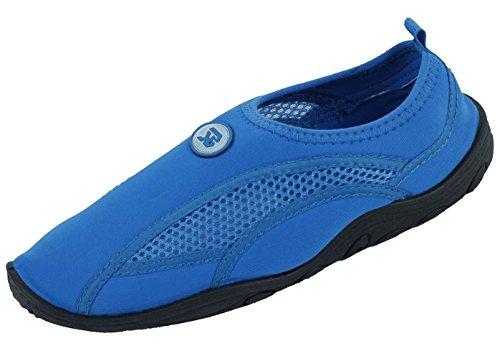 S5909 Mens Water Shoes Aqua Socks Slip on 4 Colors Athletic Pool Beach Surf Yoga Dance Exercise Sizes Blue nHZM9hAwb3
