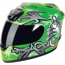 "Nitro N250 Verde ""Graffiti"" Motocicleta Ciclo De Casco ..."
