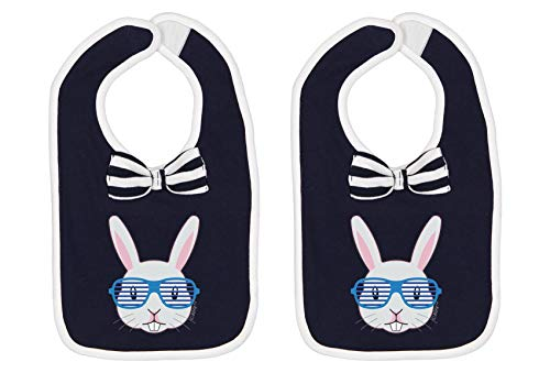 Baby Bibs Bow Tie Bib Spring Baby Gifts Easter Baby Gifts Cool Easter Bunny Baby Bow Tie Navy 2-Pack