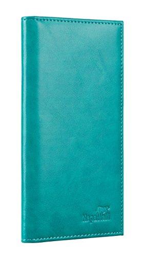 Toughergun Vegan Leather Checkbook Cover For Men & Women Card Holder Wallet RFID Blocking (vintage green)