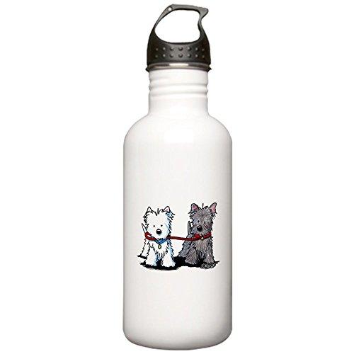 CafePress - Terrier Walking Buddies Stainless Water Bottle 1.0 - Stainless Steel Water Bottle, 1.0L Sports Bottle ()