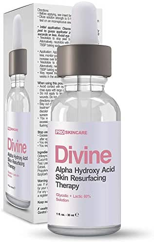 60% Glycolic Acid and Lactic Acid Chemical Peel - Intense Alpha Hydroxy Acid Exfoliating Treatment Used For Acne, Hyperpigmentation, Fine Lines, Brown Spots, Wrinkles, Age Spots and Uneven Skin Tone