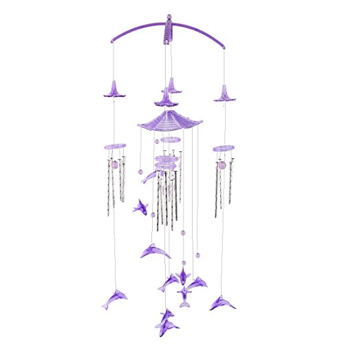 uxcell Metal Tubes Home Dolphin Pendant Present Decoration Wind Chime Bell Windbell