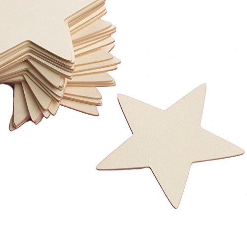 Factory Direct Craft  Group Of 24 Unfinished Wooden Star Cutouts For Kids Crafts  Creating And Embellishing