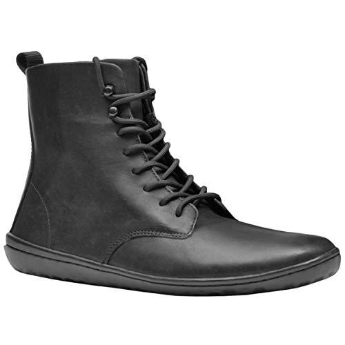 (Vivobarefoot Men's Scott 2.0 Leather Black 44 D)