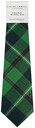 Clan Tie Galloway Hunting Modern Tartan Pure Wool Scottish Handmade Necktie
