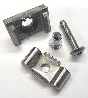 5x Pfostenkappe,Abdeckkappe KU Silber Doppelstabmattenzaun Pfosten 40x60mm