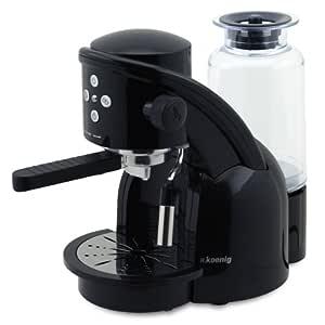 H.Koenig XPS15 Máquina de café Expresso, 1350W, 15 Bar, Color Negro, 1360 W, 1.2 litros