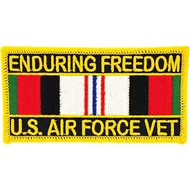 Operation Patches (MilitaryBest US Air Force Operation Enduring Freedom With Service Ribbon Patch)