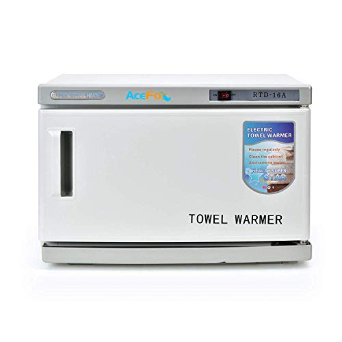 Professional Towel Warmer Cabinet, UV Sterilizer 2 in 1, Use for SPA, Hair Beauty, Salon and Home, 16L High Capacity, Hold 20-30 Towels