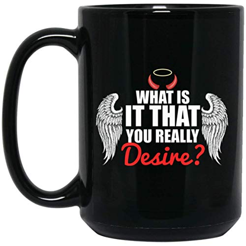 Lucifer Morningstar mug what is it that you really desire 1115 oz coffee mug gift