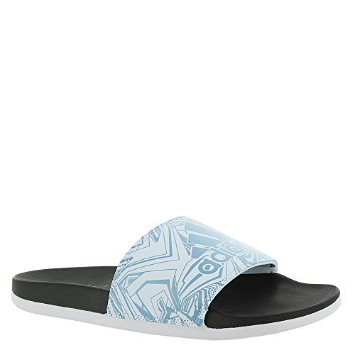 adidas Women's Adilette Comfort Slide Sandal, Ash Blue/Aero Blue/Black, 8 M US by adidas (Image #1)