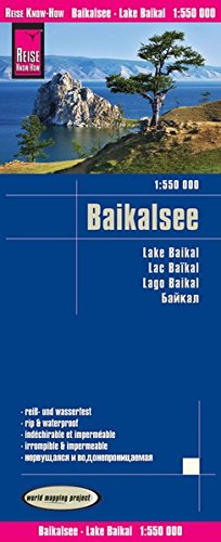 Reise Know-How Landkarte Baikalsee (1:550.000): world mapping project