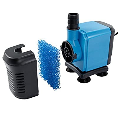 Aquaneat 1000GPH Submersible Aquarium Water Pump Hydroponic Fountain Powerhead for Fish Tank Pond Waterfall