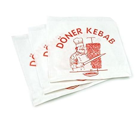 Bolsas de papel de tamaño kebab x 15 cm-15-Caja de 3000 ...