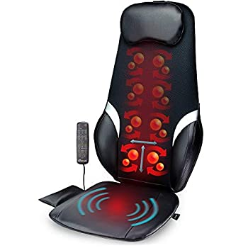Image of Back Massage Chair | Shiatsu, Vibration and Rolling Massage with Soothing Heat | Customizable Multi-Zone and Spot Massage with 3 Programs | Black