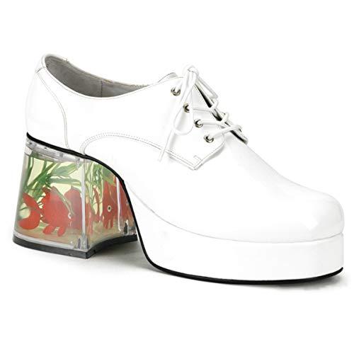 Mens Disco Outfit (Funtasma Men's Pimp Slip-On Loafer,White,Medium/10-11 M)