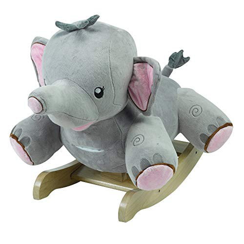 Rosie The Elephant | Horse Plush Butterfly Baby Toy with Wooden Rocking Chiar Horse/Kid Rocking Toy/Baby Rocking Horse/Rocker/Animal Ride