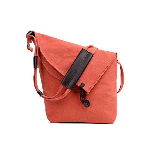 Vintage Casual Messenger Large Cross Capacity Canvas Travel Bag Body Shoulder Red LINGTOM Hobo Bags Weekend d5qpYdw