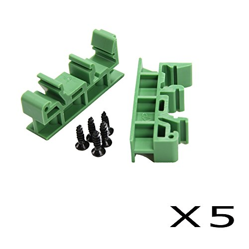 - Comidox Set of 5 PCB Din C45 Rail Adapter Circuit Board Mounting Bracket Holder Carrier 35mm