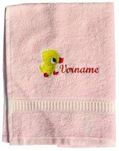 Ducha Toalla/toalla de rizo con nombre bordado Pato y su: Amazon.es: Hogar