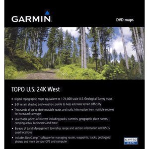 Garmin MapSource TOPO! US 24k West Topographic Coverage for Washington, Oregon, California, and Nevada (DVD)