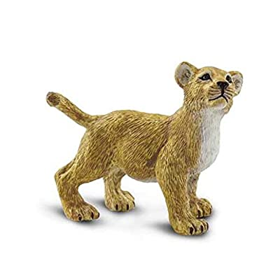 Safari Ltd. Lion Cub - Wild Safari Wildlife collection -BPA, Pthalate, and Lead Free Hand Painted Figurines - Ages 3+: Toys & Games
