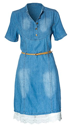 Buy belted button down shirt dress - 3