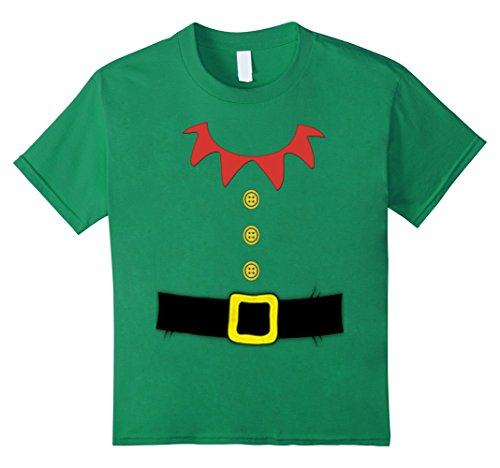 [Kids Santa Elf Costume Holiday Christmas Shirt for Kids & Adults 6 Kelly Green] (Cute Elf Costumes For Kids)