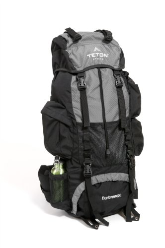 TETON Sports Explorer 4000 Internal Frame Backpack (Grey), Outdoor Stuffs