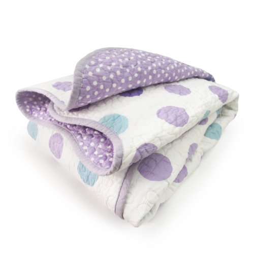 CoCaLo Mix & Match Violet Coverlet, Jumbo Dot/Dottie