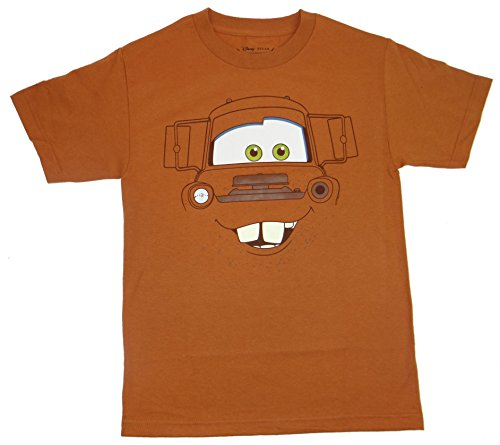 Disney Shirts For Adults (Disney Cars Mater Big Face T-shirt (Large, Texas Orange))