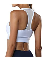 FIRM ABS Racerback Sports Bra High Impact Wirefree Activewear Workout Yoga Bra