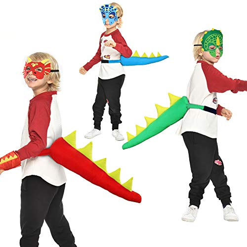 (Dinosaur-Tail+Mask for Kids Party -Dragon Costume (#3)
