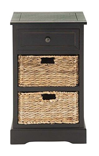 Delightful Deco 79 96146 Wood Wicker Basket Side Table, 28u0026quot; ...