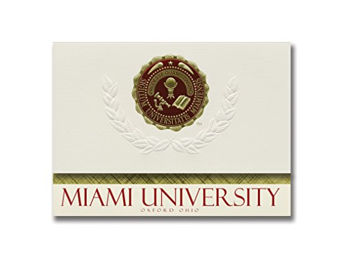 (Signature Announcements Miami University Graduation Announcements, Platinum style, Basic Pack 20 with Miami U. of Ohio Seal)