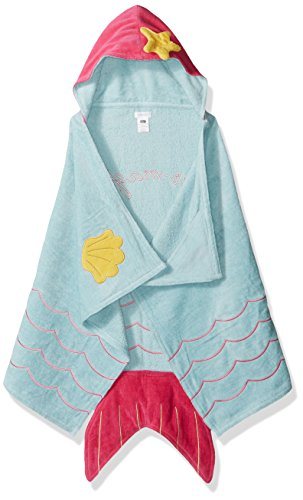 Mud Pie Baby Hooded Bath Towel Girl, Mermaid, One Size ()