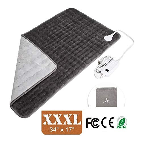 Heating Pad, Anbber XXXL Extra Large Electric Heating Pad with Auto Shut Off for Back Pain Neck Shoulders Legs Waist Pain Relief Cramps,Fast-Heating Technology,6 Temperature Settings Washable Heat Pad