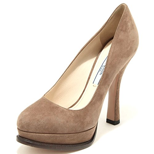 Shoes Visone Scarpa Decollete Donna Women Prada 2236G xZP1nv