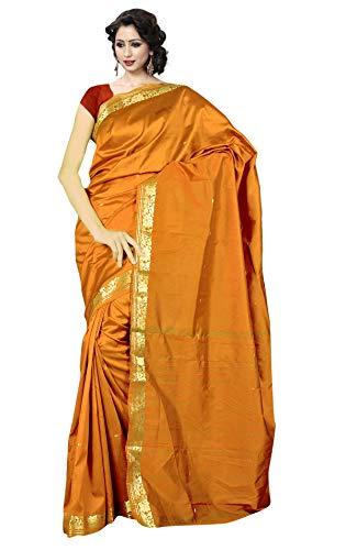 KoC Indian Traditional Ethnic Women wear Art Silk Saree -Gold