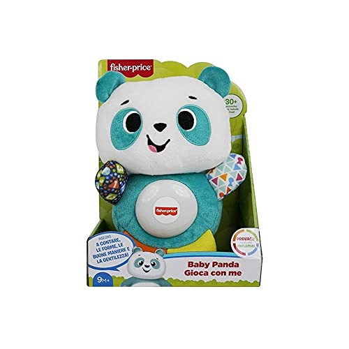 Fisher-Price - Parlámicos Baby Panda Juega con Me, Juego Educativo con Luces y Sonidos, Juguete para niños 9 + Meses, GVN32