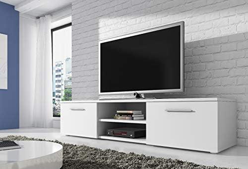 TV Unit Cabinet Stand Vegas 150 cm Matte White